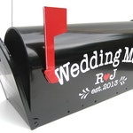 Custom Wedding Card Mailbox - Wedding Card Box - Monogrammed Letter Box -  Wedding Reception Card Box