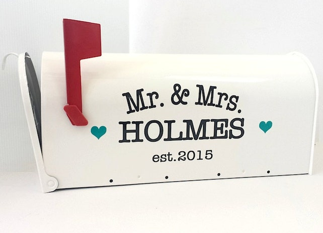Custom Wedding Card Mailbox Wedding Card Box Monogrammed Letter