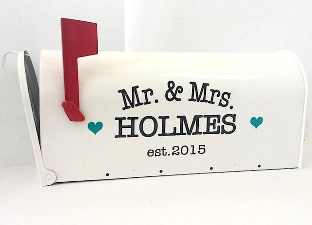 Custom Wedding Card Mailbox Wedding Card Box Monogrammed Letter