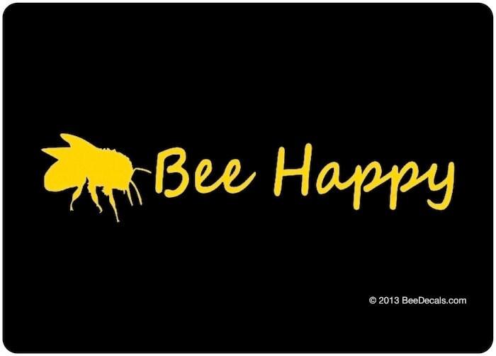 bee happy auto fenster aufkleber auto sticker aufkleber. Black Bedroom Furniture Sets. Home Design Ideas