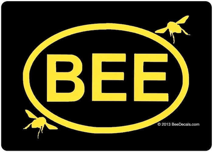 Beekeeper Euro Car Sticker Bee Sticker Decal Etsy