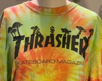 c718b8c39c09 Thrasher Tie Dyed Mushroom T-shirt