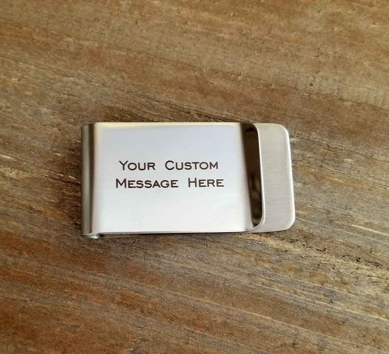Dad Established Est Option To Personalize Both Sides with Year Customized Money Clip Stainless Steel Gift  Pregnancy New baby reveal gift