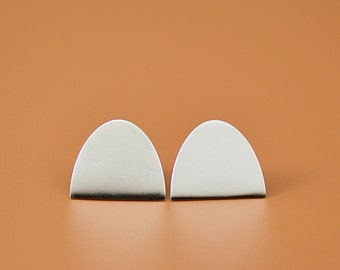 Knoll Studs, Sterling Silver Earrings, Minimal and Contemporary Design