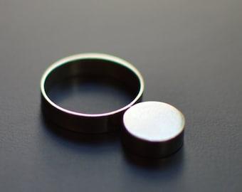 Sterling Silver Ring, Silver Moon, Contemporary, Minimal, Modern, Brutalist, Modernist, Statement