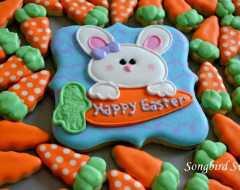 Easter Bunny & Mini Carrot Cookies, Easter Cookie Collection