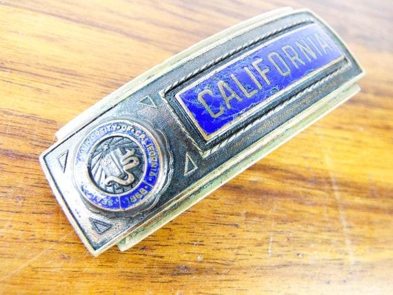 Blue enamel Belt Buckle