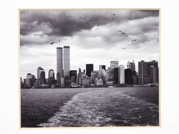 Vintage Walter Gritsik Art Photographie Photo Noir Blanc Manhattan Skyline Tenture Murale Contemporaine Unique œuvre Dart Photos De Paysage