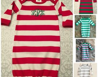 d5620df627 Christmas Baby Gown Baby Christmas Pajamas Organic Cotton