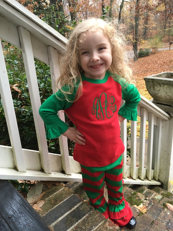 image 0 - Little Girls Christmas Outfits Monogram Christmas Outfit Etsy