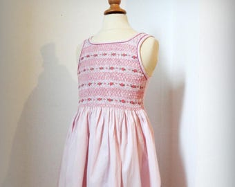 Cherry pink smock dress 4 years