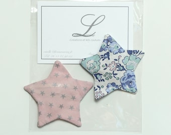 Lot 2 Liberty star hair clip barrette 5 cm
