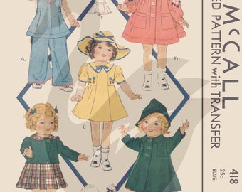 Reproduction Vintage Sam /& Sue Rags Dolls /& Clothes Sewing Pattern M1158