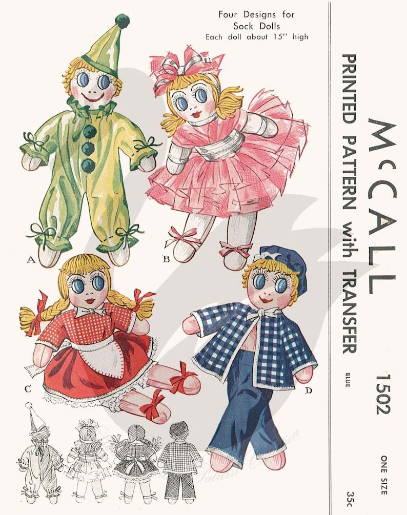 15d091a314aa9 Reproduction Vintage Sock Dolls Clown Dancer Girl Sailor
