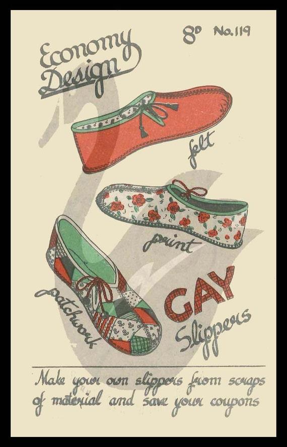 Wiedergabe \' n \' Flicken Gay Hausschuhe nähen | Etsy