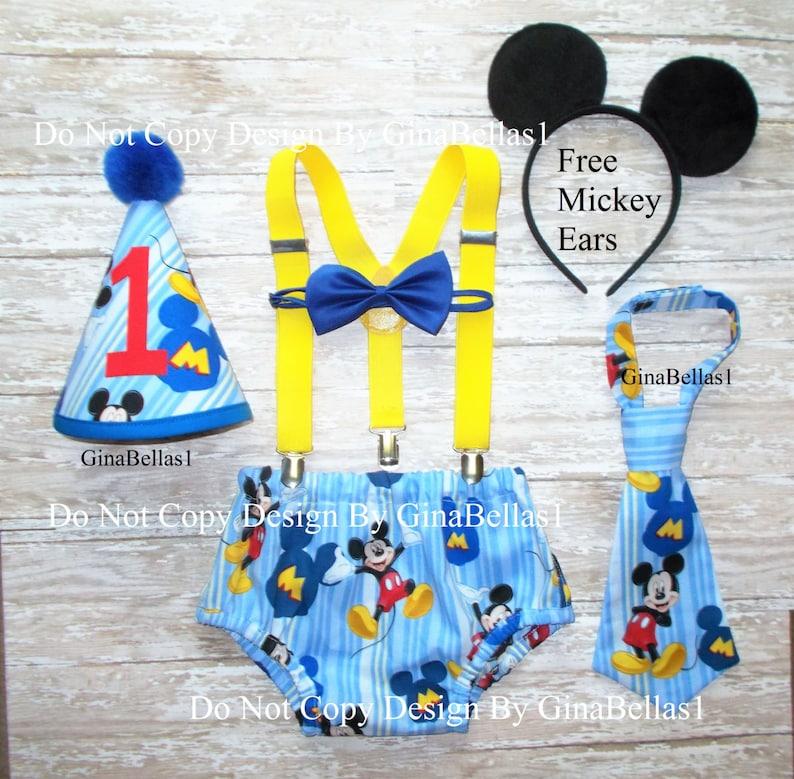 Mickey Mouse cumpleaños pastel traje smash Club azul de bebé  bccc012ef34