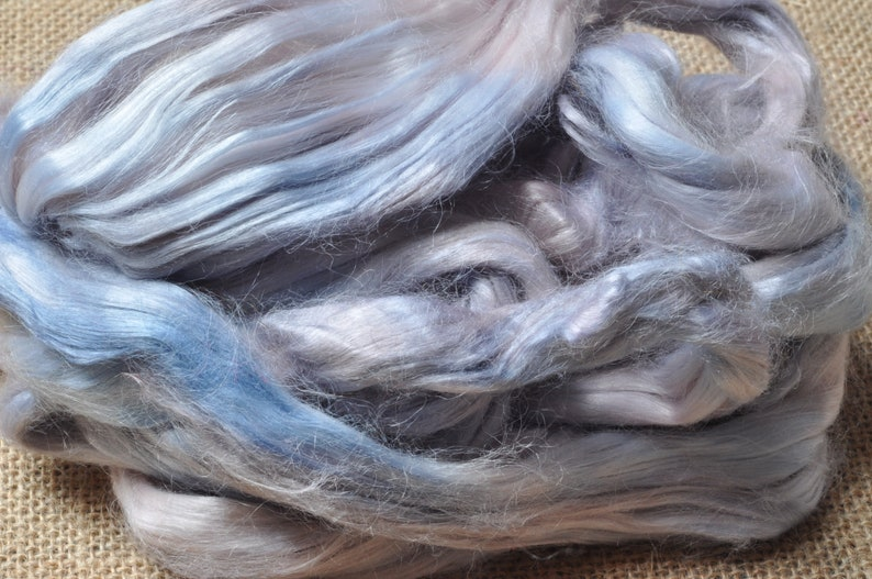 Creative Art Mixed Media Felting Paper Making Hand Dyed Bamboo Top Yarn Textile Art Collage Art Batts Spinning Bamboo Fibre
