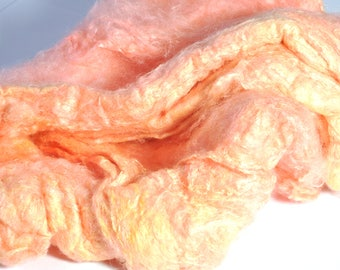 Mulberry Silk - Hand Dyed Silk - A Grade Mulberry Silk Caps - Silk for Spinning - Silk for Felting