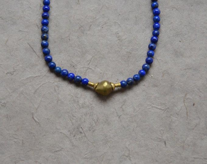 Tribal Chakra Necklace - Lapis