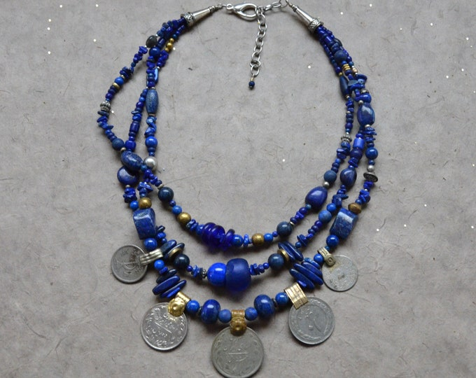 Footsteps Of The Tribal Queen Necklace, Chakra 6 Made To Order
