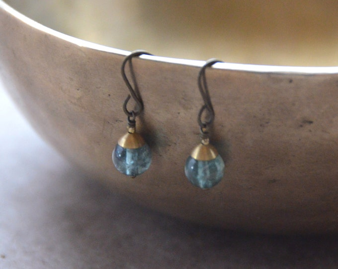 The Chakra Moon Earrings- Apatite