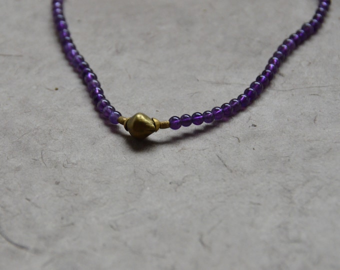 Tribal Chakra Necklace - Amethyst