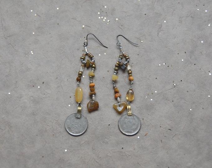 Free Spirit earrings, Chakra 3