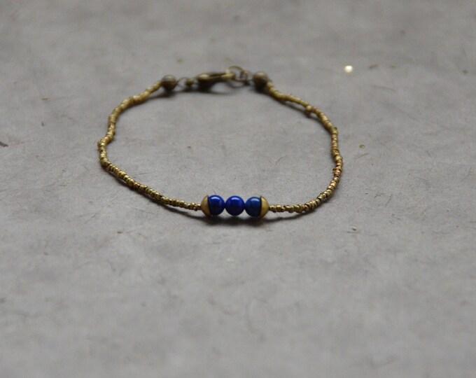 The Chakra Moon Bracelet- Lapis