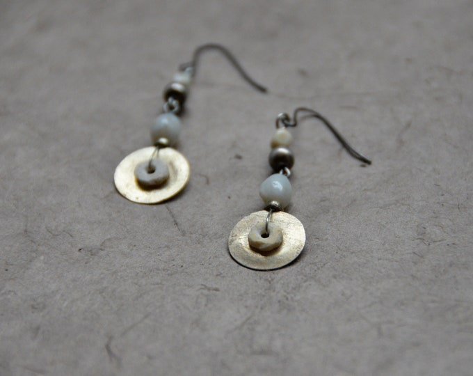 "The ""Simple Tribals"" Earrings, Chakra 7"