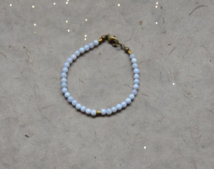 Tribal Chakra Bracelet- Lace Agate