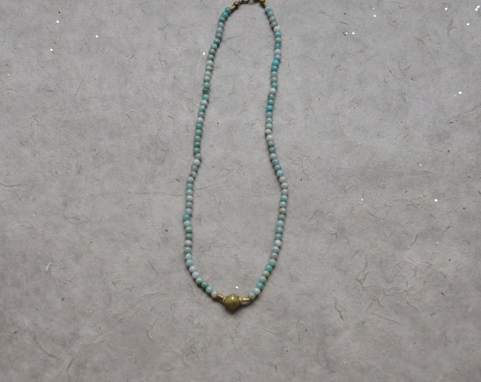 Tribal Chakra Necklace - Aqua Blue Quartz