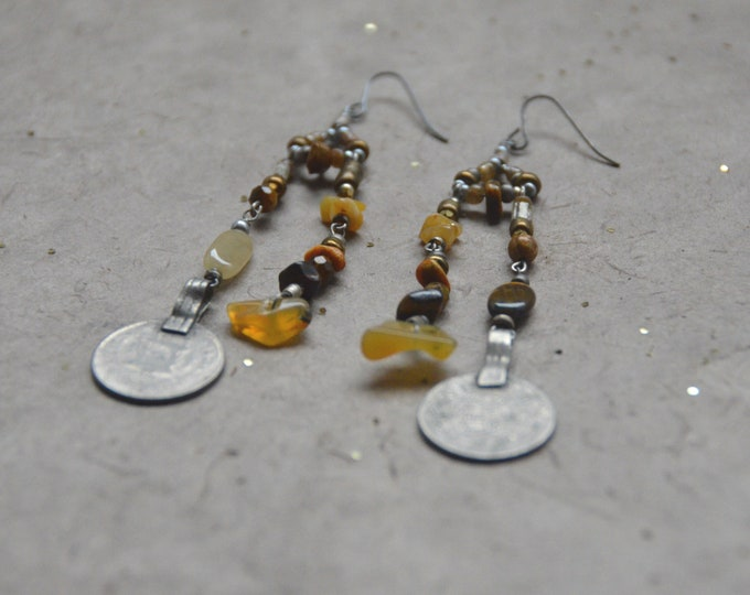 Free Spirit Earrings, Chakra 3