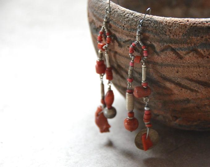 Free Spirit Tribal Earrings, Chakra One