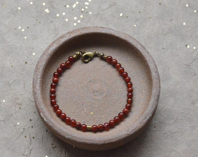 Tribal Chakra Bracelet- Carnelian