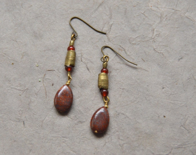 Tribal Simplicity Jasper Earrings - Root Chakra
