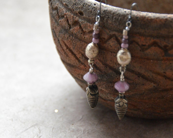"""The """"Trade Routes"""" Earrings. Chakra 7"""