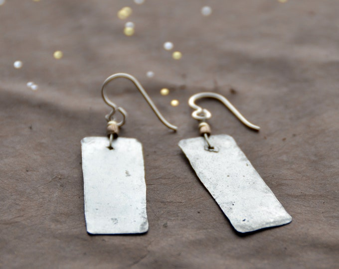 The Candy Bar hammered tin earrings, select size