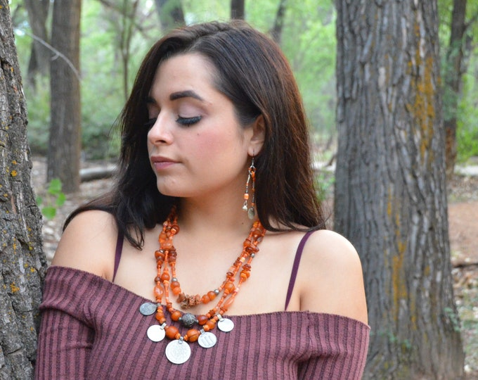 "The ""Goddess and Her Dreams"" Necklace, Chakra 2 Made To Order"