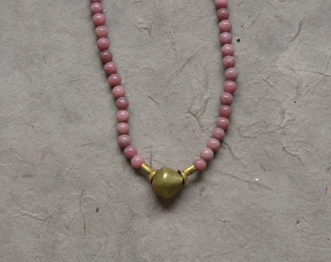 Tribal Chakra Necklace - Rhodonite