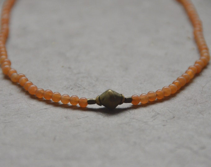 Tribal Chakra Necklace - Orange Chalcedony