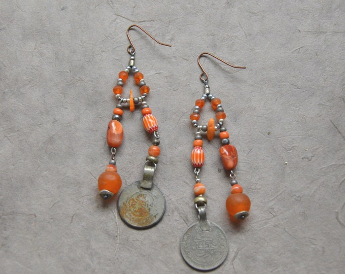 The Free Spirit earrings, Chakra 2