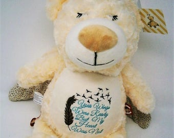 Guardian Angel Bear, Guardian Angel, Memorial Gift, Sympathy Gifts, Loss of Loved one, Angel, Stuffies, Embroidered Plush, Stuffed Animals