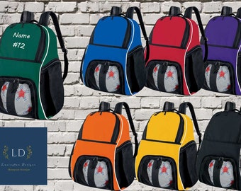 School dance sports bag Personalised Mini Rucksack embroidered 6 colours