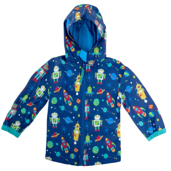sale quality design look for Kids Rain Jacket, Boys Rain Jacket, Stephen Joseph, Rain Coat, Robots Rain  Jacket, Personalized Rain Jacket, Rain Jacket for Kids