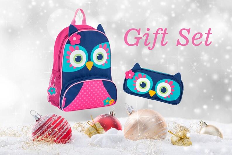 ad30a1009e26 Owl Backpack Little Girls Backpack Stephen Joseph kids Bag