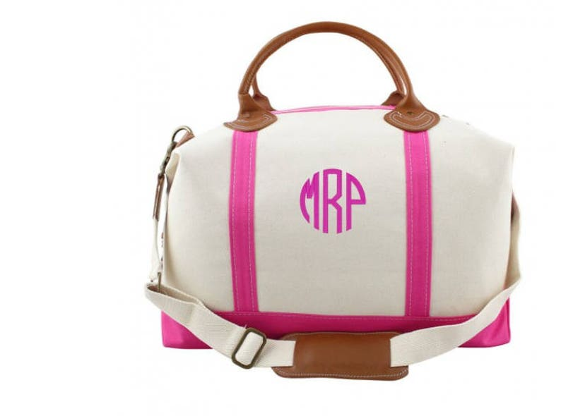ce7544d6d5ad Monogrammed WeekenderCanvas Duffle Personalized Travel Bag