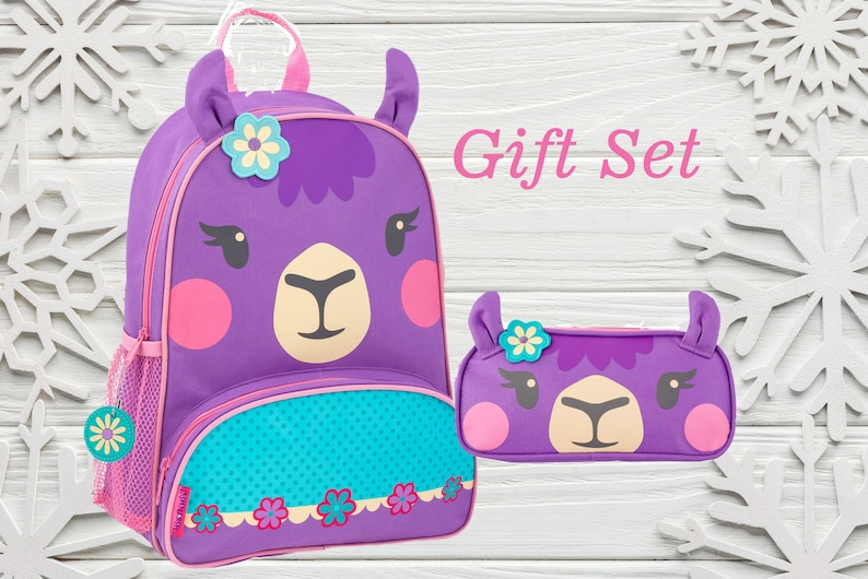 6b78459b8512 Kids Backpack, Little Girls Backpack, Stephen Joseph, Llama Bag, Sidekick  Bag, Bags for Little Girls, Personalized Backpack for Kids
