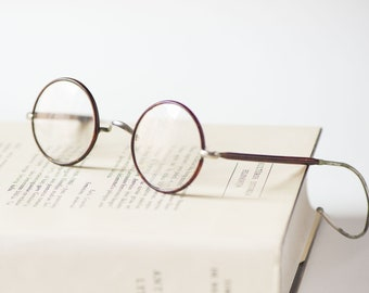 1a427fc8768 Antique eye glasses round spectacles Windsor style reading glasses