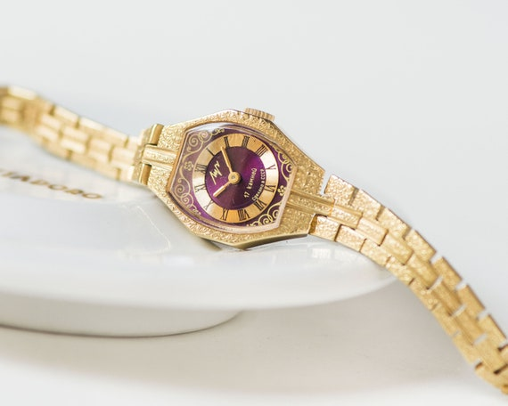 Cocktail wristwatch for women Ray, gold plated wom