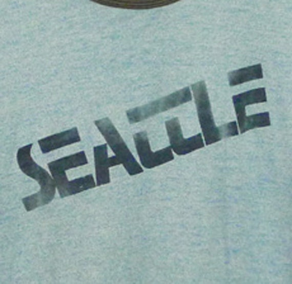 Vintage 80s Seattle Blue Ringer T-Shirt